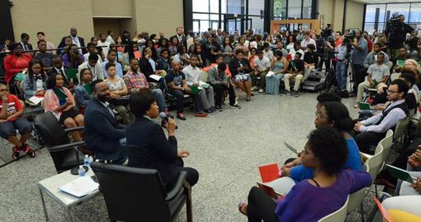 Muriel Bowser at the Youth Engagement Town Hall